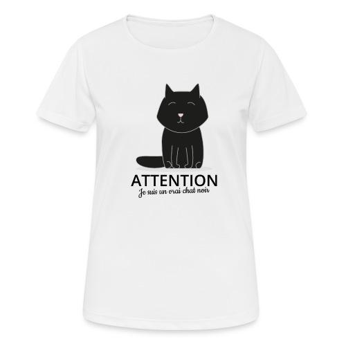 Chat noir - T-shirt respirant Femme