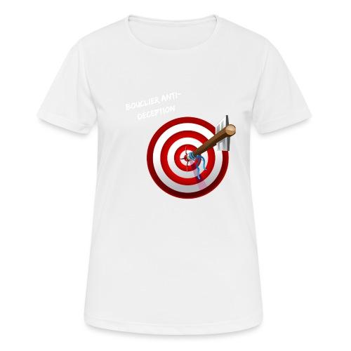 Bouclier anti-déception - T-shirt respirant Femme