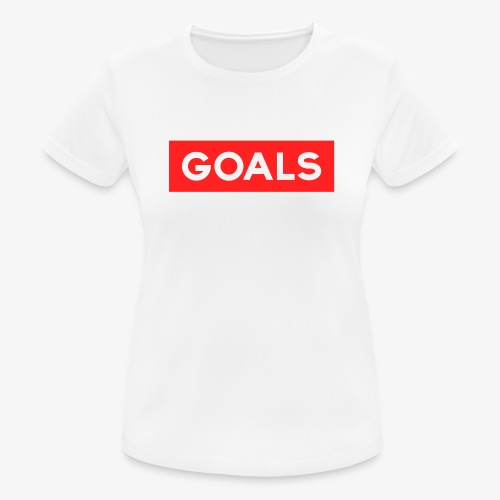 GOALS SQUARE BOX - Women's Breathable T-Shirt