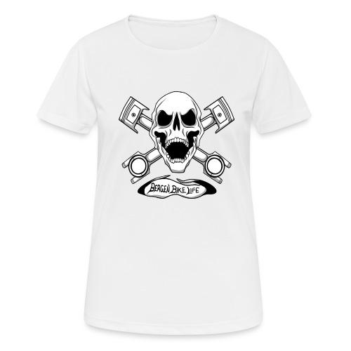 Bergen Bike Life - Pustende T-skjorte for kvinner