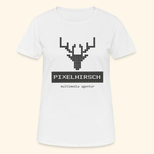 PIXELHIRSCH - grau - Frauen T-Shirt atmungsaktiv