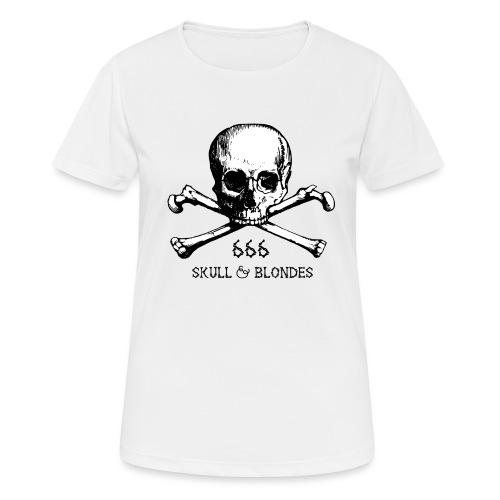 skull & blondes (black) - Frauen T-Shirt atmungsaktiv