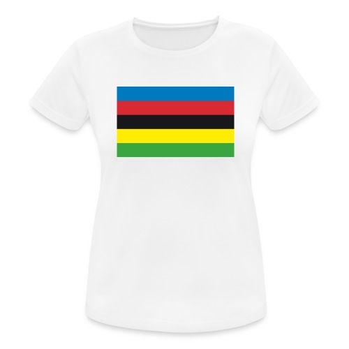 Cycling_World_Champion_Rainbow_Stripes-png - Vrouwen T-shirt ademend actief