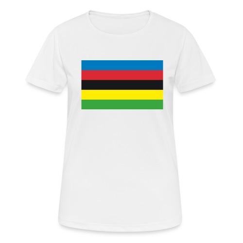 Cycling_World_Champion_Rainbow_Stripes-png - vrouwen T-shirt ademend