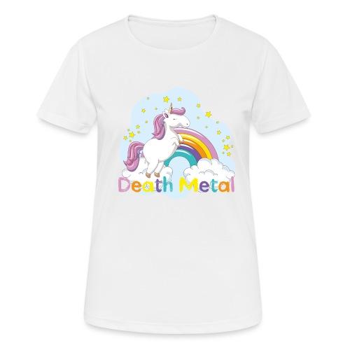unicorn death metal - Vrouwen T-shirt ademend actief