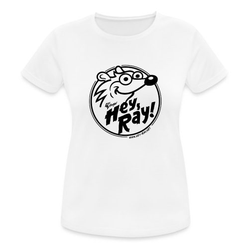Hey Ray Logo black - Frauen T-Shirt atmungsaktiv