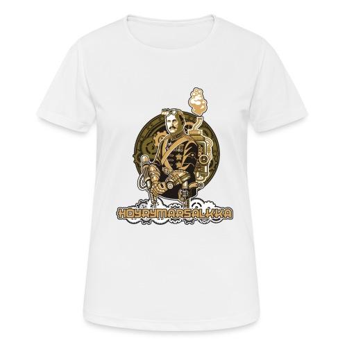 Höyrymarsalkan upea kangaskassi - naisten tekninen t-paita