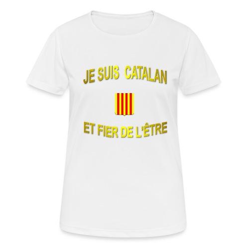 Tee-Shirt supporter du pays CATALAN - T-shirt respirant Femme