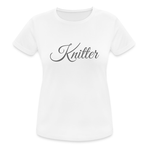 Knitter, dark gray - Women's Breathable T-Shirt
