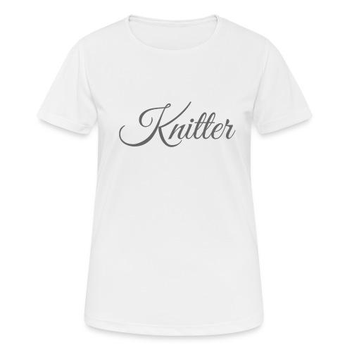 Knitter, dark gray - Women's Breathable T-Shirt