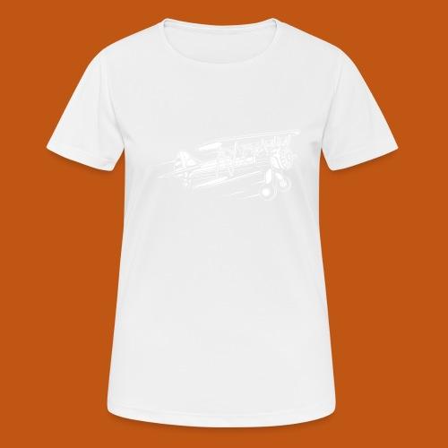 Flugzeug / Airplane 01_weiß - Frauen T-Shirt atmungsaktiv