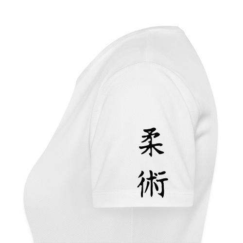 jiu-jitsu på japansk og logo - Dame T-shirt svedtransporterende
