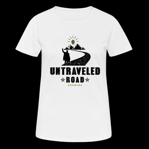 Untraveled Road Logo - schwarz/grün - Frauen T-Shirt atmungsaktiv