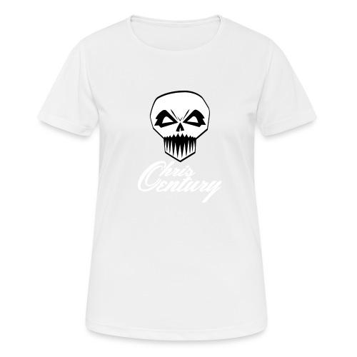 logo Chris Century blanc - T-shirt respirant Femme