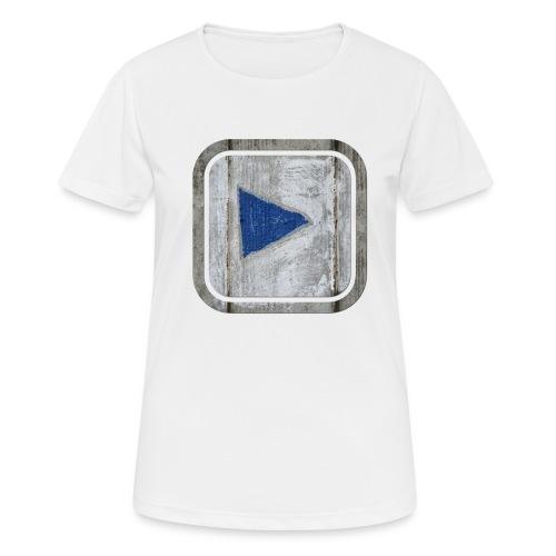 hier entlang ! - Frauen T-Shirt atmungsaktiv