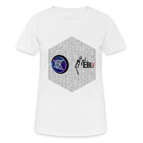 disen o dos canales cubo binario logos delante - Women's Breathable T-Shirt