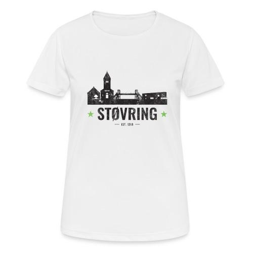 Støvring City Black Green - Dame T-shirt svedtransporterende
