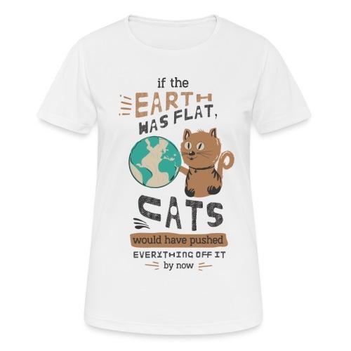 IF THE EARTH WAS FLAT - Pustende T-skjorte for kvinner