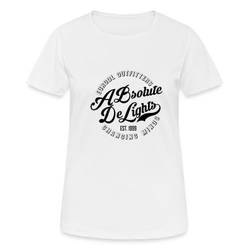euroDL Retro T-shirt - Black - Vrouwen T-shirt ademend actief