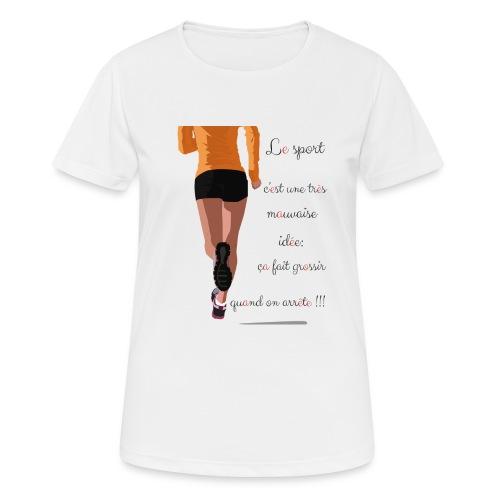 Sport et le régime - T-shirt respirant Femme