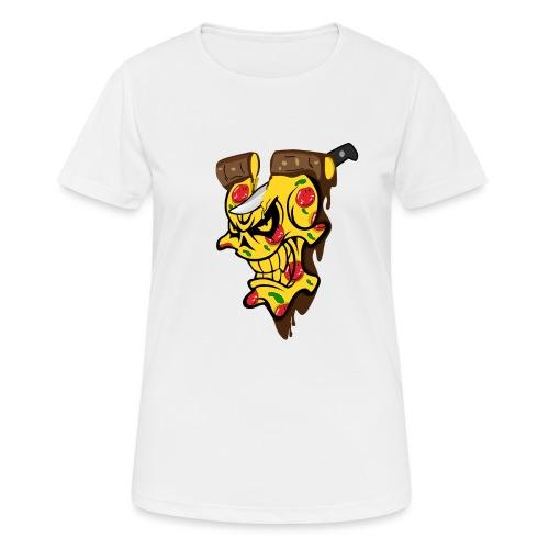 Pizza Schädel mit Messer - Frauen T-Shirt atmungsaktiv
