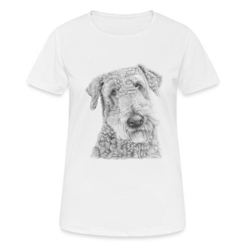 airedale terrier - Dame T-shirt svedtransporterende