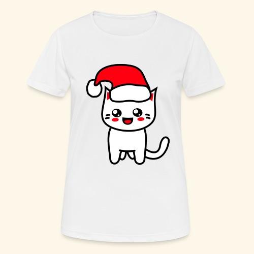 Kawaii Kitteh Christmashat - Frauen T-Shirt atmungsaktiv