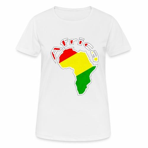 Afrika - rot gold grün - Frauen T-Shirt atmungsaktiv