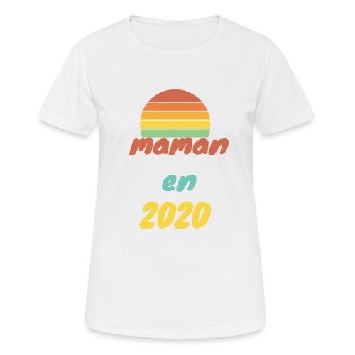 maman en 2020 Vintage - T-shirt respirant Femme