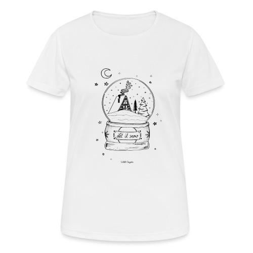 Winter Schnee Bild Kinder Liebe Weihnachten Hütte - Frauen T-Shirt atmungsaktiv