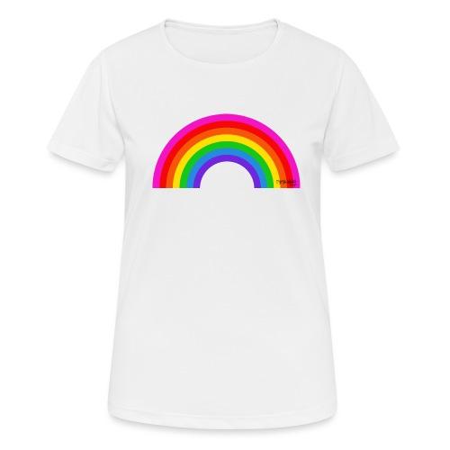 Rainbow - naisten tekninen t-paita