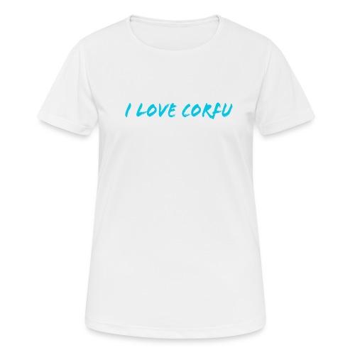 I Love Corfu Griechenland - Frauen T-Shirt atmungsaktiv