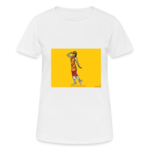 GROOVY 500 illustration - Pustende T-skjorte for kvinner