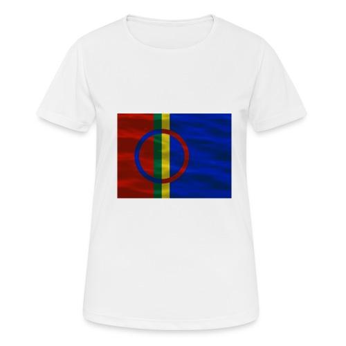 Sapmi flag - Pustende T-skjorte for kvinner