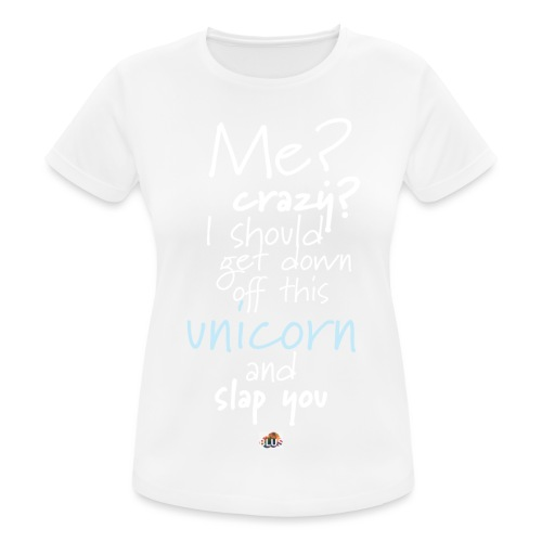 Crazy Unicorn - Dark - Women's Breathable T-Shirt