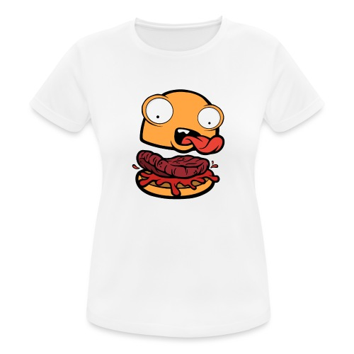 Crazy Burger - Camiseta mujer transpirable