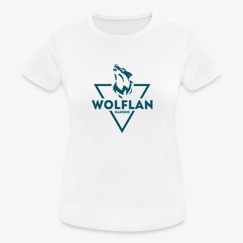 WolfLAN Logo Gray/Blue - Women's Breathable T-Shirt