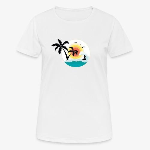 Surfing in paradise - Frauen T-Shirt atmungsaktiv