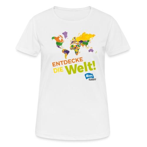 Entdecke die Vielfalt der Welt mit AFS - Frauen T-Shirt atmungsaktiv