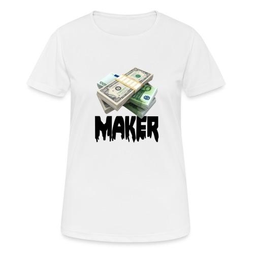 MONEYMAKERBLACK - Vrouwen T-shirt ademend actief