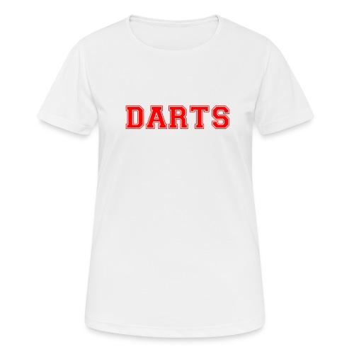 DARTS - Schriftzug in rot - Frauen T-Shirt atmungsaktiv