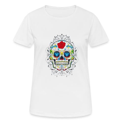 Rose und Diamantschädel - Frauen T-Shirt atmungsaktiv