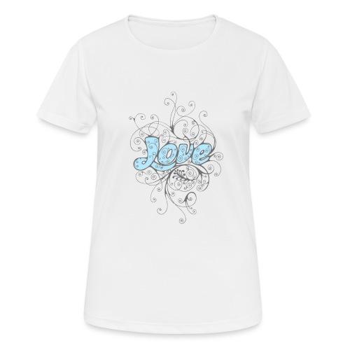 LOVE CON DECORI - Maglietta da donna traspirante