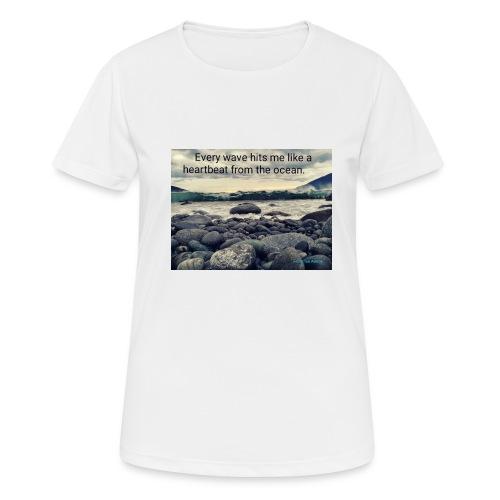 Oceanheart - Pustende T-skjorte for kvinner