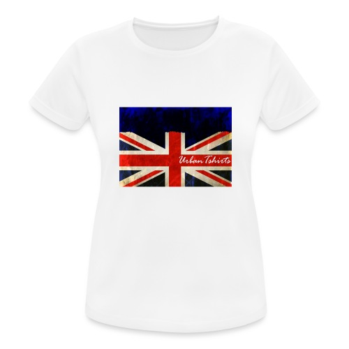 Brittish Flag - Andningsaktiv T-shirt dam