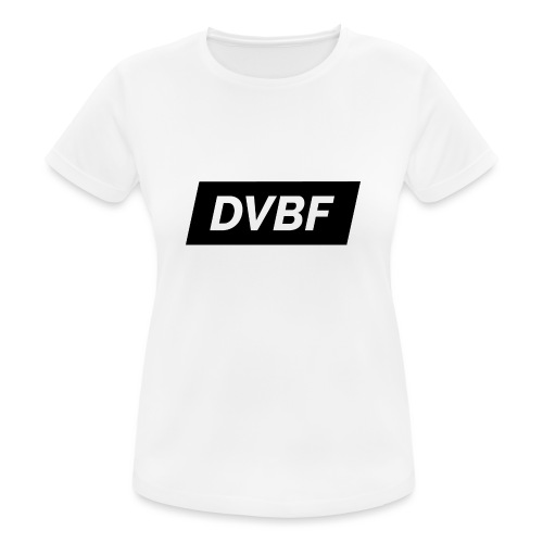 DVBF Svart - Andningsaktiv T-shirt dam
