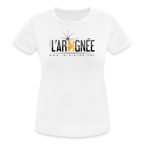 L'ARAIGNÉE, logo noir - T-shirt respirant Femme