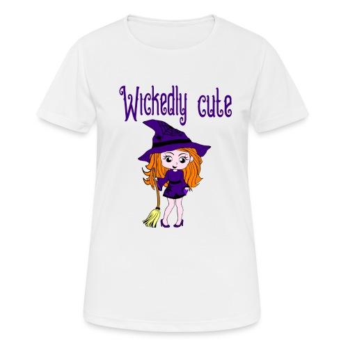 lief klein heksje met bezem - Vrouwen T-shirt ademend actief