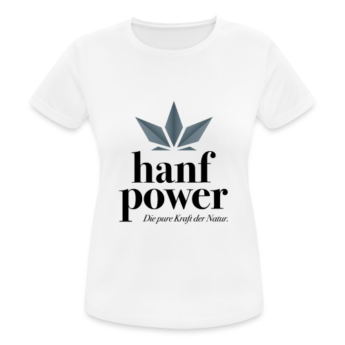 Hanf Power Logo - Frauen T-Shirt atmungsaktiv