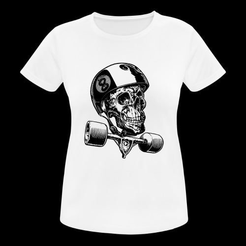 Skull Longboard Rider - positive print - T-shirt respirant Femme